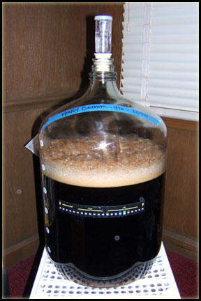 Honey Oatmeal Stout Fermenting